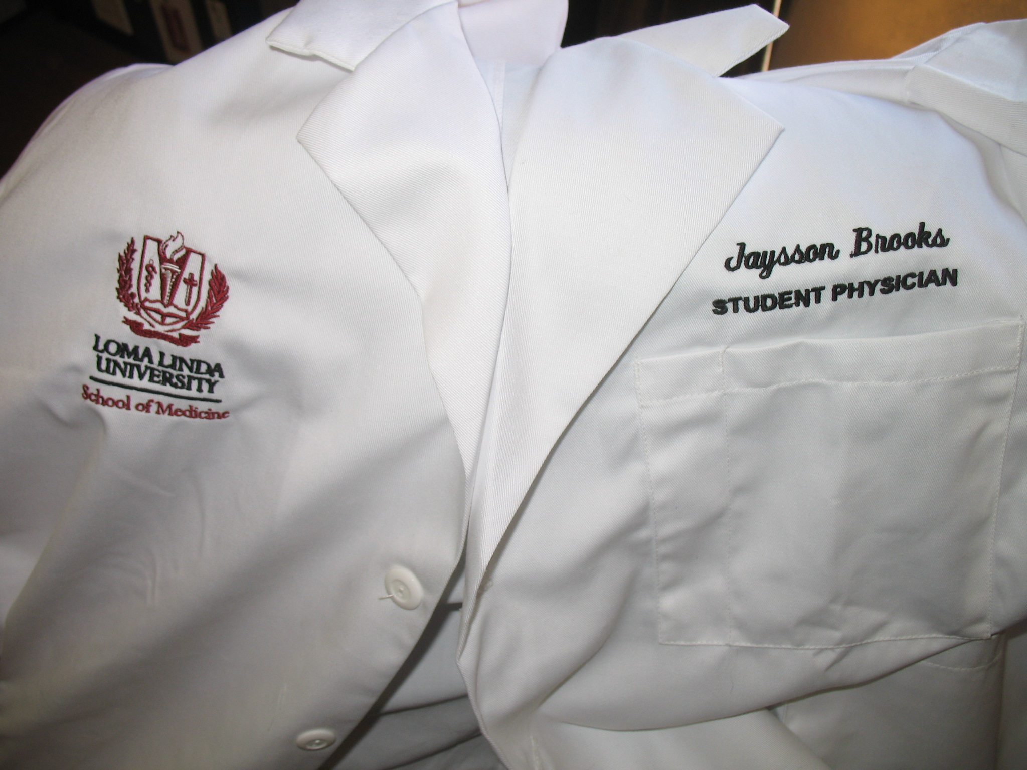 Embroidered White Coat